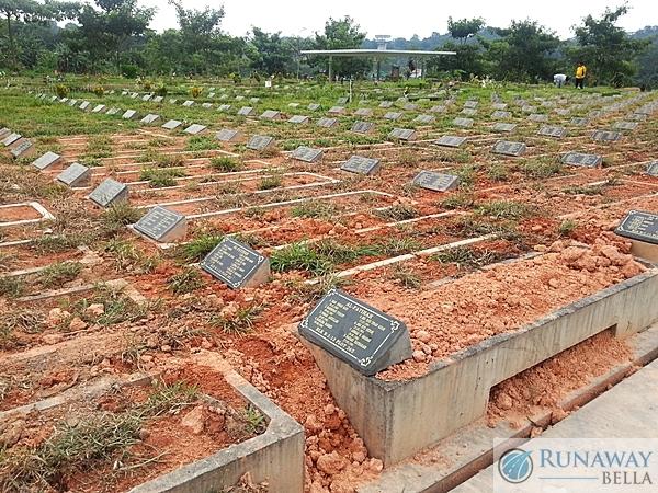Grave number Muslim cemetery