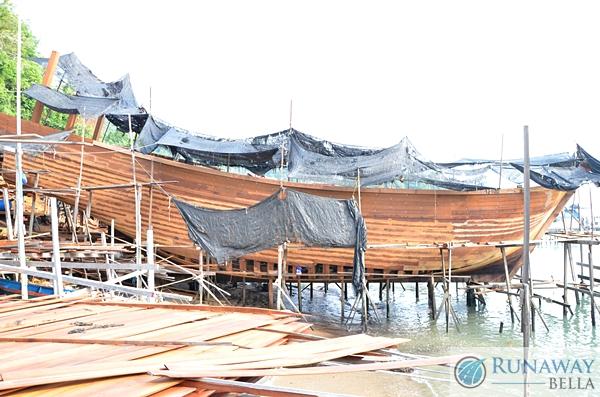 Boat Building Pangkor Island