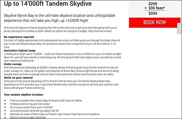 Skydive Details