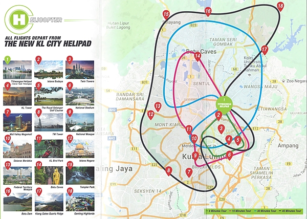 KL Sky Tour Route