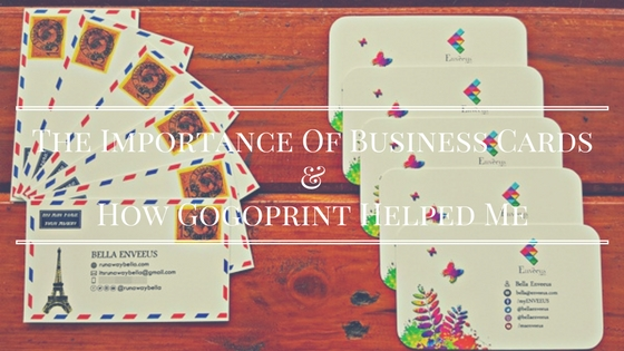 The Importance Of Business Card For My Blogs & How Gogoprint Helped Me