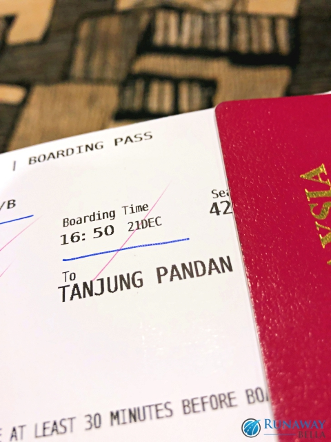Flight to Belitung Island, Indonesia