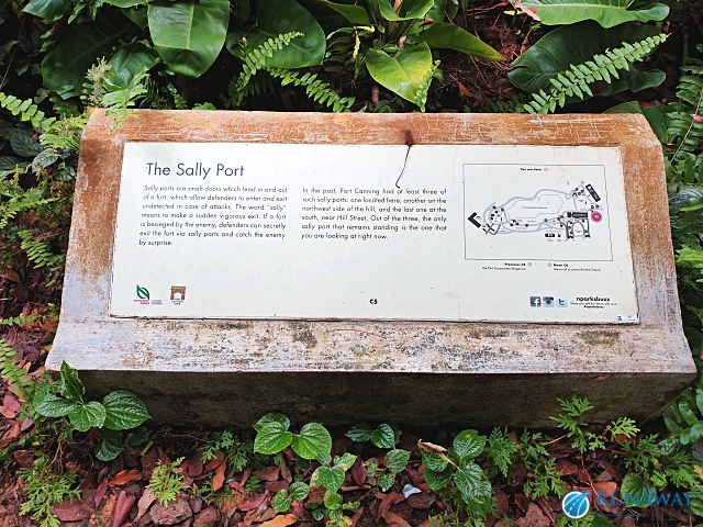 The Sally Port Fort Canning